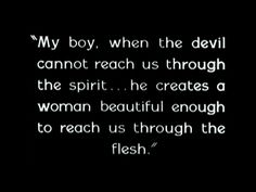 And how destructive that can be to so many people.  The sins of the father ...