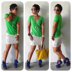 Cargo Mini + Distressed Green + Heelless Shoes @ www.mimigstyle.com