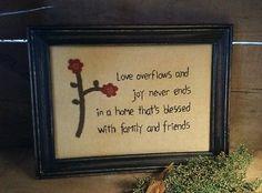 Primitive Flower Stitchery Love~ Family & Friends from Primitives by Kathy