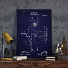 Airplane Prints Patent Prints Pilot Gifts Hostess Gifts