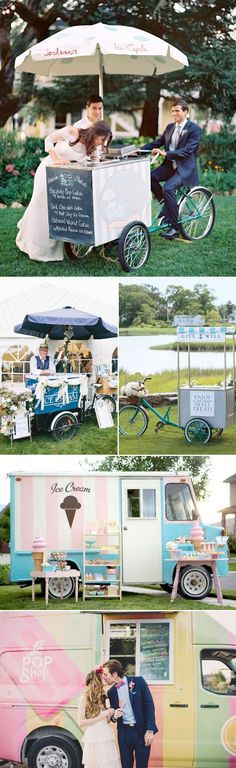 25 Fun Dessert Bar Alternatives That Will Get your Guests Involved - Icecream Cart / Truck!