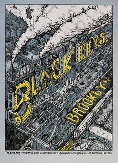 "David Welker will sell two new posters for The Black Keys today. They're 17"" x 22"" screenprints, have editions of 260 (fewer online), and will cost $40 each. Th"
