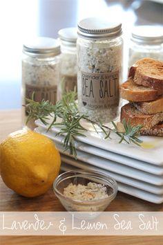 This homemade lavender and lemon sea salt will finish any dish and be a great gift #handmadegift #neighborgift