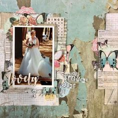 'Lovely' layout for Kaisercraft Official Blog. This Layout features Kaisercraft's 'Scrap Studio' collection. Learn more at kaisercraftblog.com ~ Wendy Schultz ~ Kaisercraft Projects 2. Scrapbook Layout Sketches, Scrapbooking Layouts, Digital Scrapbooking, Wedding Scrapbook, Diy Scrapbook, Scrapbook Pages, Diy Paper, Paper Crafts, Studio Layout