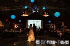 The lanterns over the dance floor made a beautiful first dance - Tampa Wedding Photographer - MOSI - Captured Images Blog