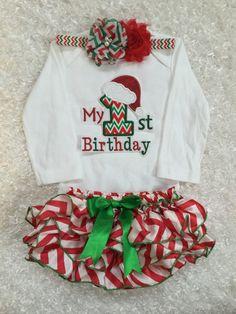 76162493494 First Birthday Christmas by BabyTrendzz on Etsy