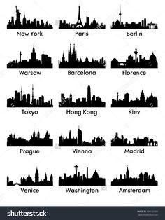 stock-vector-city-skyline-silhouettes-130125308.jpg (1202×1600)
