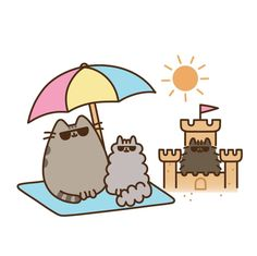 """218 gilla-markeringar, 2 kommentarer - Pusheen Box (@pusheenbox) på Instagram: """"It's the final day in the sun for the Summer 2017 Pusheen Box! Don't get left alone in the sand as…"""""""