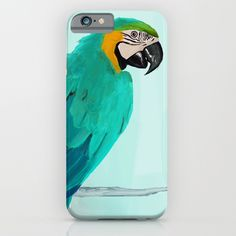 Parrot iPhone Case by Tomcii Parrot Painting, Art Blog, Ipod, Smartphone, Iphone Cases, Slim, Animal, Store, Drawings