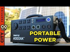 How to get unlimited power after SHTF: Solar Generator (Inergy Kodiak) - YouTube