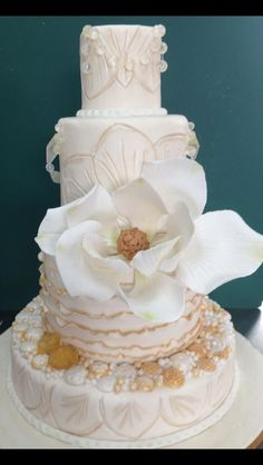 Pastel de boda hermoso