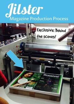 What is the printing process for a Magazine?