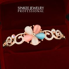 Find More Cuff Bracelets Information about Multicolor Opal Flower Bracelets for Women Sinkee SL227 18K Rose Gold Plated Bangle Cuff Brand Jewelry Free Shipping,High Quality bracelet fashion,China bracelet punk Suppliers, Cheap bracelet clasp from SINKEE JEWELRY Store on Aliexpress.com