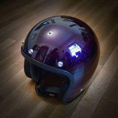 custom biltwell bonanza helmet by @oldschoolhelmets
