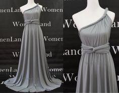 vestidos de noche color gris oscuro - Buscar con Google