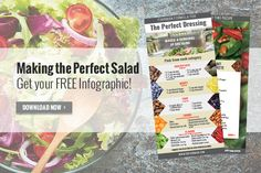 Use DR. FUHRMAN'S FORMULA to create healthful salads and dressings that are as individual as you are! Download the free infographic at http://info.drfuhrman.com/make-salad-the-main-dish