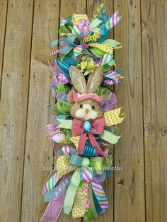 Hey, I found this really awesome Etsy listing at https://www.etsy.com/listing/263014780/easter-bunny-spring-wreath-easter-wreath