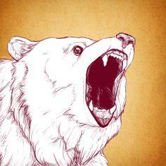 Teddars commission - Angry Bear by sheepsu.deviantart.com on @DeviantArt