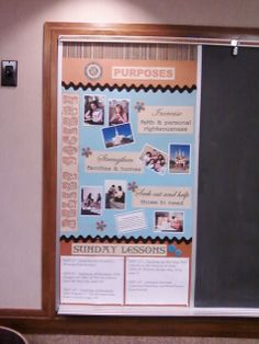 Half of Fall Relief Society bulletin board