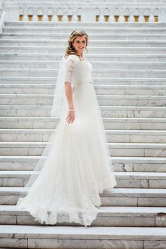 Ethereal Lace - Modest Wedding Gown I'm mostly pinning this because its my resident, Hillary! So fun!