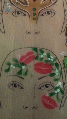 Christmas Face Painting, Paint Ideas, Idea Paint
