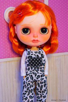 Doll OOAK Blythe custom by JanisasCouture on Etsy Sleepy Eyes, Color Naranja, Freckles, Blythe Dolls, Favors, Disney Princess, Etsy, Inspiration, Ideas