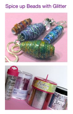 Glitter Beads 5 great ways to dress up your paper beads