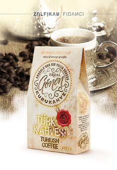 Turkish Coffee Packaging Design / Kurukahve Ambalaj Tasarımı / Tasarım ZÜLFİKAR FİDANCI www.zulfikarfidan...