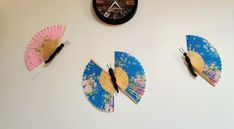 Butterfly Art, Upcycle, Fans, Wall Decor, Decor Ideas, Cool Stuff, Simple, Crafts, Diy