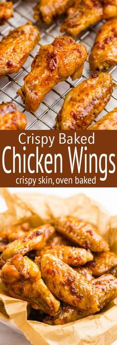Crispy Baked Chicken Wings Perfect Crispy Baked Hot Wings Without The Fat Of Frying! Crispy Baked Chicken Wings - Crispy Baked Wings, how to get truly crispy wings in the oven, and how to get finger licking good hot wings with minimal work! Crispy Baked Chicken Wings, Oven Wings Crispy, Oven Baked Wings, Chicken Wings Oven, Chicken Breasts, Baked Chicken Meals, Chiken Wings, Baked Buffalo Wings, Crockpot Chicken Wings