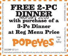 Popeyes Chicken Coupons Ends of Coupon Promo Codes JUNE 2020 ! Is chain the Miami, founded Popeyes headquarters was it In the is their. Kfc Coupons, Shopping Coupons, Love Coupons, Online Coupons, Grocery Coupons, Free Printable Coupons, Free Printables, Franchise Restaurants, Worlds Best Chicken