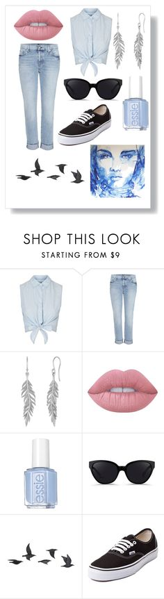 """""""Boyfriend Jeans"""" by happy-geek7 ❤ liked on Polyvore featuring Topshop, 7 For All Mankind, Lime Crime, Essie, 3.1 Phillip Lim, Jayson Home and Vans"""