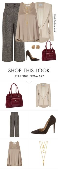 """""""Women's fashion"""" by style-by-shannon-leeper ❤ liked on Polyvore featuring McKleinUSA, Hebe Studio, Pink Tartan, Manolo Blahnik, T By Alexander Wang, BERRICLE and Lucky Brand"""