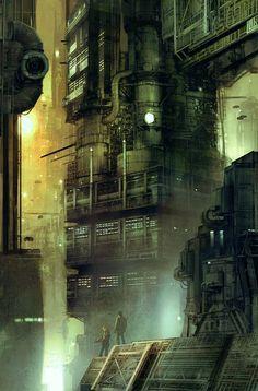 Ideas For Science Fiction Architecture Blade Runner Ville Cyberpunk, Art Cyberpunk, Blade Runner, Sci Fi Environment, Environment Design, Science Fiction, Futuristic City, Futuristic Architecture, Fantasy Landscape