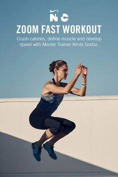 The Nike+ Training Club Zoom Fast workout puts high-energy drills to a sweat test. 30 minutes with Nike Master Trainer Kirsty Godso will push your limits and make you stronger. Get it in the App.