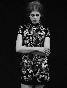 """Ella"" photographed by Nadine Ottawa for Forget them Magazine. via Opaqueglitter."