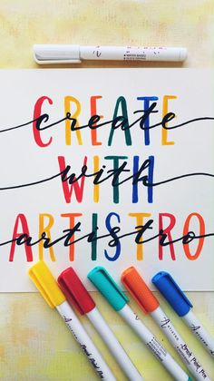 Create with Artistro – and the only limit is your imagination for creative artwork. Artistro brush pens work with any acrylic paint and are perfect for creating fine lines, filling large areas and creative painting detailed brushstrokes. Hand Lettering Art, Hand Lettering Tutorial, Graffiti Lettering, Brush Lettering, Paint Pens For Rocks, Paint Marker Pen, Acrylic Painting Tips, Calligraphy Pens, Creative Artwork