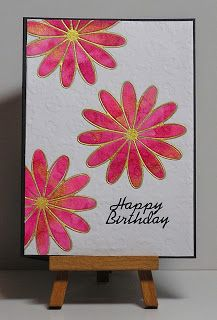 Cathys Card Spot: Pink & Gold Flowers
