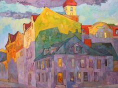 Meet You at the Corner by Larisa Aukon Oil ~ 30 x 40