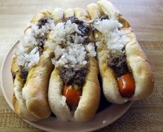 Rhode Island Weiners with everything; three is the best number with French Fries and Coffee Milk. Then and only then are you on your way to becomming a true Rhode Islander.
