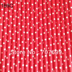 Free shipping Party supplies Paper Straws,Swiss Dot Paper Straws, Drinking Paper Straws#199C-dot  500pcs