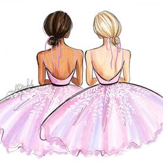 A ballerina break ? sketched with : : A ballerina break ? sketched with : A ballerina break ? Best Friend Drawings, Tumblr Drawings, Girly Drawings, Cool Art Drawings, Easy Drawings, Best Friend Pictures, Bff Pictures, Fashion Design Drawings, Fashion Sketches