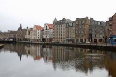 Leith, the harbour town of  Edingburgh has also its own city council - and excellent restaurants here by Leith Water river's mouth.