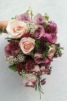 Ramos de novia con flores otoñales