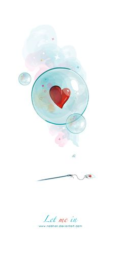 ---O over your heart❤️, For from it flow the springs of life. ( Proverbs Let me in. by *NaBHaN on deviantART Illustration Mode, I Love Heart, Heart Art, Whimsical Art, Cute Drawings, Cute Wallpapers, Cute Art, Watercolor Paintings, Iphone Wallpaper