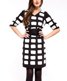 Take a look at this Black & White Patti Dress - Women & Plus on zulily today!