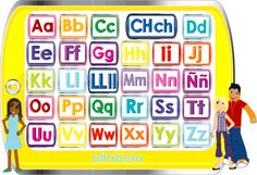 learn the alphabet, numbers, colors, shapes, school words, animals, fruits, vegetables, food, calendar, weather, times of day, all about you, house, position words, opposites, musical instruments, USA, and Italy in spanish #learning #spanish #kids