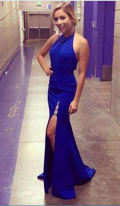 a893b1b13a69 Dark Royal Blue Long Mermaid Evening Dress Side  prom  promdress  dress   eveningdress