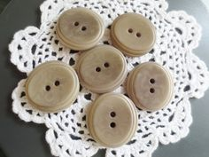 Large Taupe Buttons 2 Hole Set of 55 DIY Sewing Supplies by ChickieVintageLove on Etsy Etsy Crafts, Taupe, Sewing, Creative, Handmade, Diy, Buttons, Beige, Dressmaking