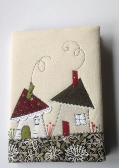 Stitching a meadow. Applique Cushions, Applique Quilts, Patchwork Quilting, Free Motion Embroidery, Applique Embroidery Designs, Machine Embroidery, Small Quilts, Mini Quilts, Fabric Art